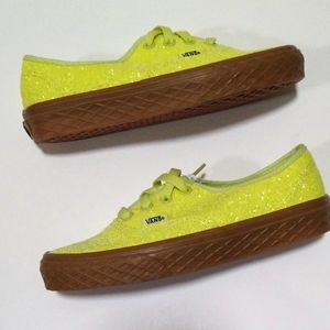 VANS Ice Cream Glitter YELLOW Women's Size 5